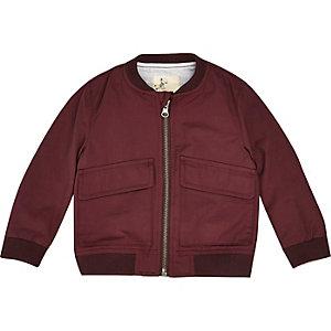 Mini boys red bomber jacket