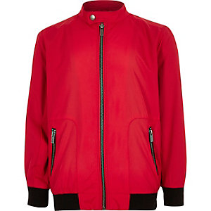 Boys bright red racer jacket