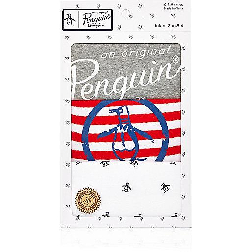 Gestreiftes Pinguin-Geschenkset für Babys