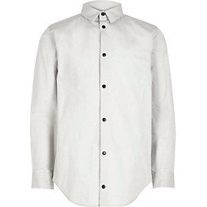 Boys light grey popper shirt