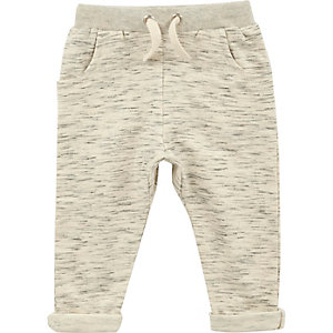 Crème gemêleerde joggingbroek voor mini boys