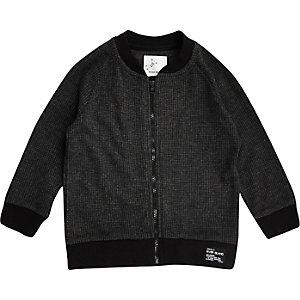 Mini boys grey soft bomber jacket