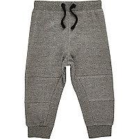 Pantalon de survêtement gris à coutures apparentes mini garçon