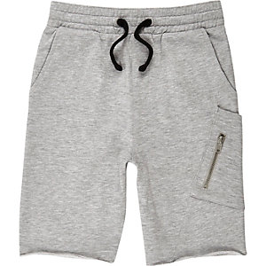 Boys grey marl jersey shorts