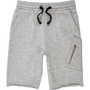 Short gris chiné en jersey pour garçon
