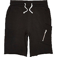 Boys black jersey shorts