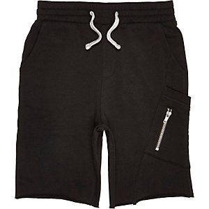 Short en jersey noir pour garçon