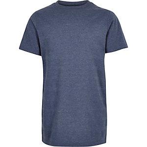 Boys navy textured t-shirt