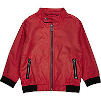 Mini boys red bomber jacket
