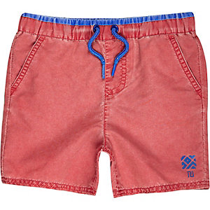 Mini boys red swim trunks