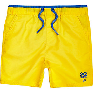 Mini boys yellow swim trunks