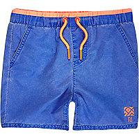 Mini boys faded blue swim trunks