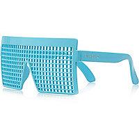 Boys turquoise grid novelty glasses