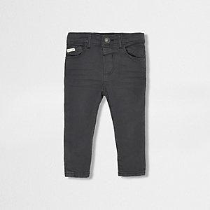 Donkergrijze skinny jeans voor mini boys