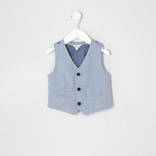 Mini boys light blue vest