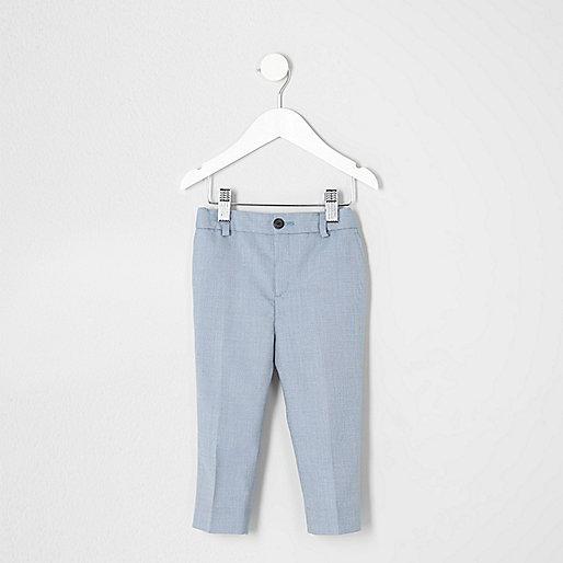 Mini boys light blue suit pants