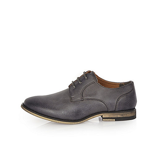 Boys grey smart shoes