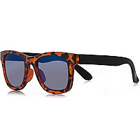 Mini boys brown retro sunglasses