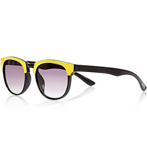 Mini boys yellow flat top sunglasses