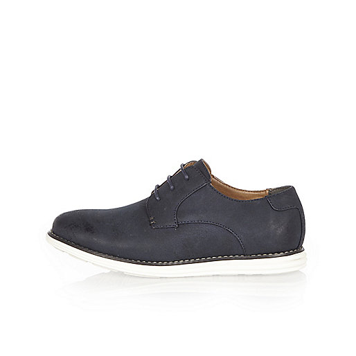 Boys navy derby shoes
