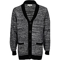 Boys black knitted cardigan