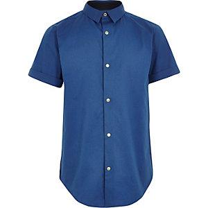 Boys blue short sleeve shirt
