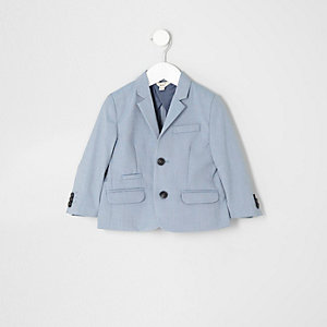 Mini boys light blue suit jacket