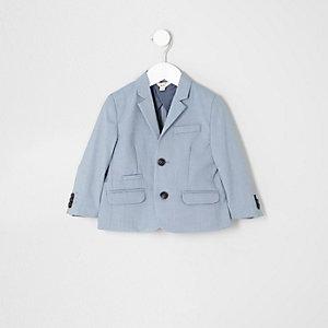 Veste de costume bleu clair mini garçon