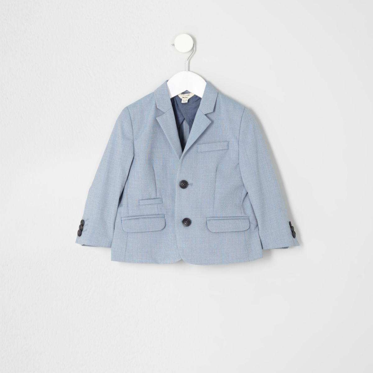 Mini boys light blue suit jacket