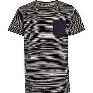 Boys navy stripe t-shirt