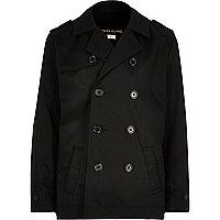 Boys black traditional mac coat