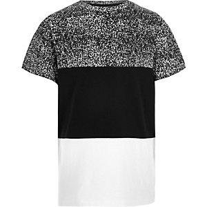 Boys black block panel t-shirt