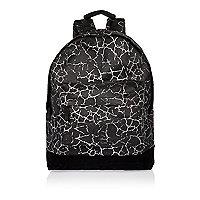 Boys black cracked print Mi-Pac backpack