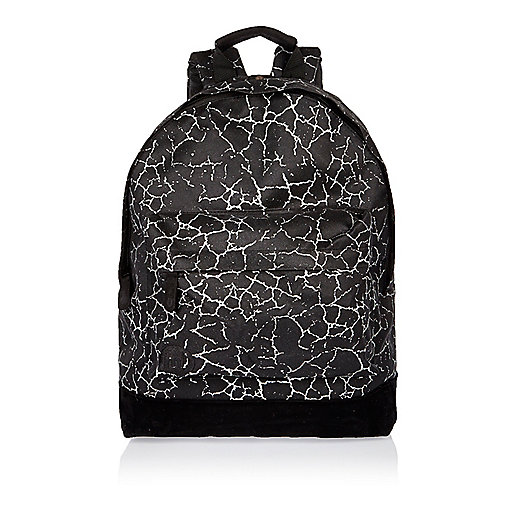 Boys black cracked print Mi-Pac backpack