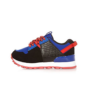 Mini boys blue runner trainers