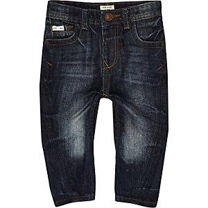 Mini boys dark blue wash skinny jeans