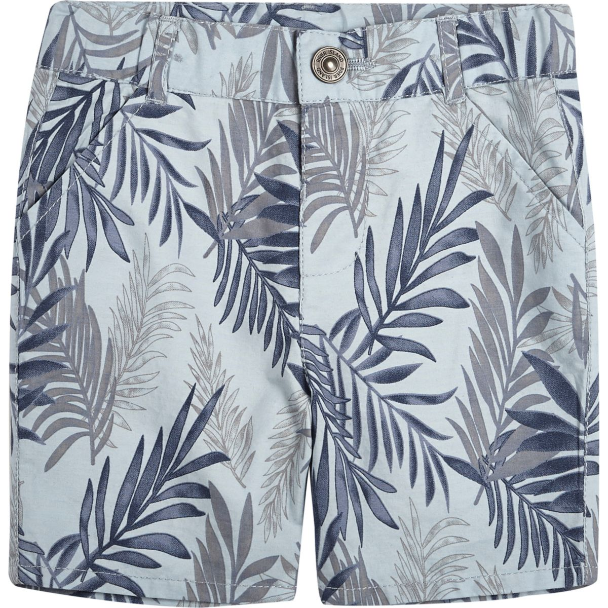 Mini boys blue floral print shorts