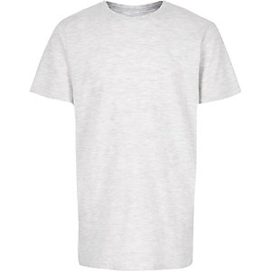 Boys grey textured t-shirt