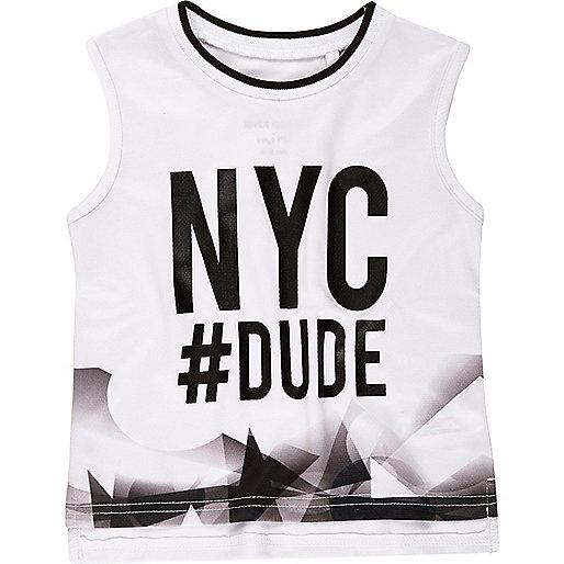 Weißes Oberteil mit NYC-Print