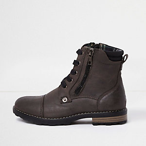 Boys grey work boots