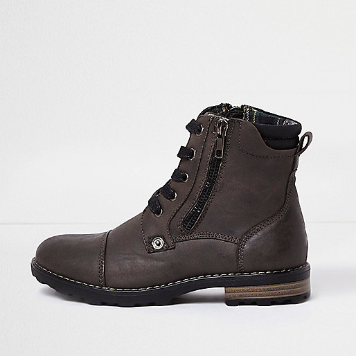 Boys grey work boots