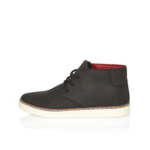Boys black chukka boots