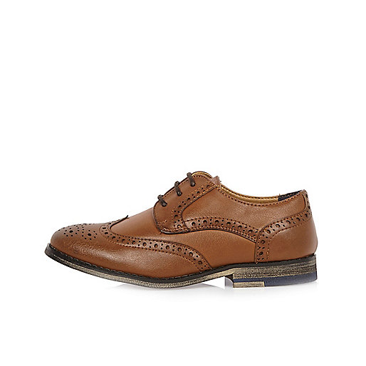 Boys light brown brogues