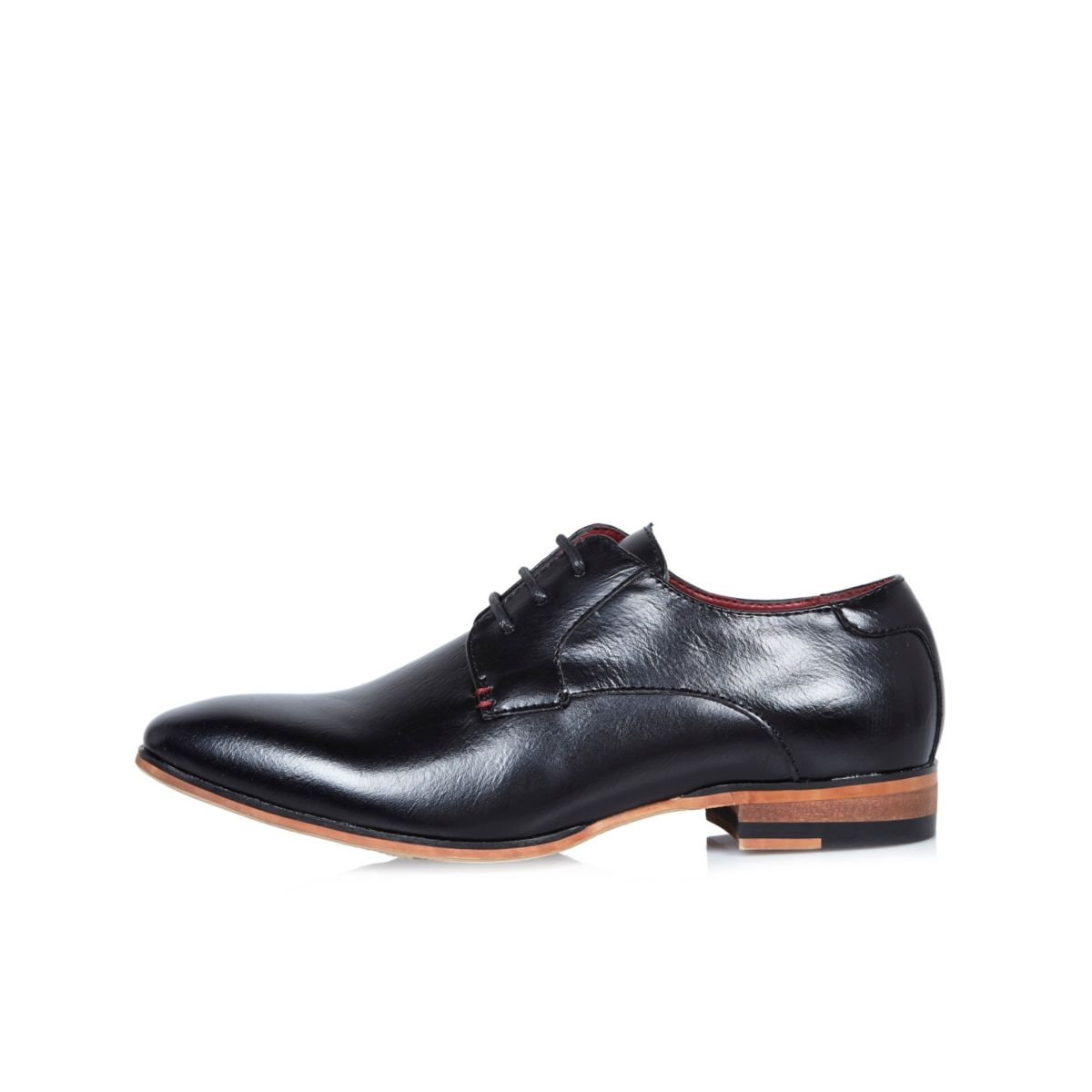 Boys black smart shoes