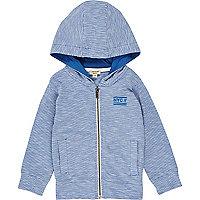 Mini boys blue lightweight hoodie