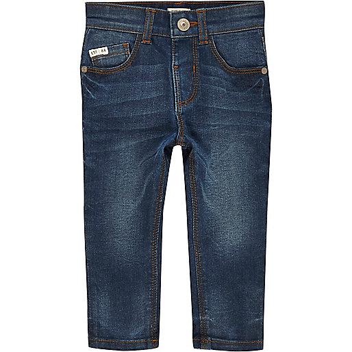 Mini boys dusty blue wash Sid skinny jeans