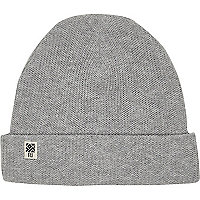 Boys grey ribbed beanie