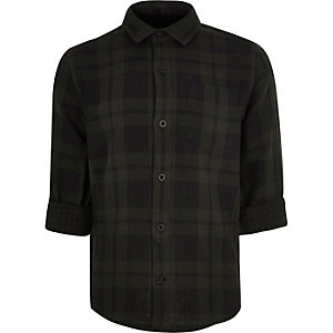 Boys grey check shirt