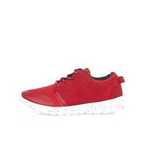 Boys red runner sneakers