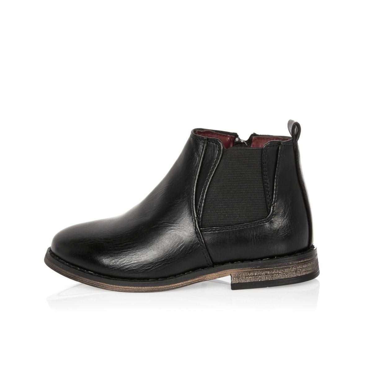 Mini boys black Chelsea boots